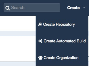 Creating a new automated build in DockerHub.